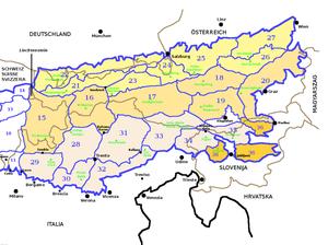 Slovene Prealps - Image: SOIUSA Alpi Orientali sezione 36