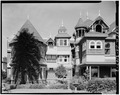 SOUTH END OF EAST FRONT - Winchester House, 525 South Winchester Boulevard, San Jose, Santa Clara County, CA HABS CAL,43-SANJOS,9-3.tif
