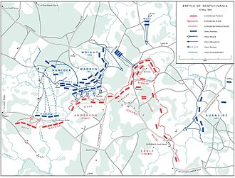 Battle of Spotsylvania Court House - Grant attacks, May 10 (additional map).