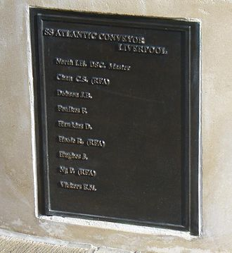 SS Atlantic Conveyor - Atlantic Conveyor Memorial, Trinity Gardens, Tower Hill, London.