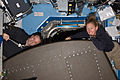 STS-135 ISS-28 Ron Garan and Sandy Magnus.jpg