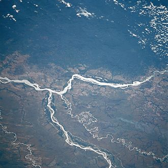 Deforestation in Colombia - Soil disturbance associated with deforestation in Colombia affects rivers such as the Orinoco and Meta through increased siltation and sedimentation that affects both water levels and aquatic biodiversity.