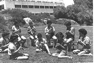 Mishmar HaEmek - Music lessons on the kibbutz, 1956