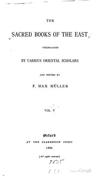 File:Sacred Books of the East - Volume 5.djvu