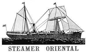 Oriental, North Carolina - Image: Sailing Steamer Oriental