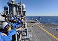 Sailors watch flight ops aboard USS Makin Island. (11966570775).jpg