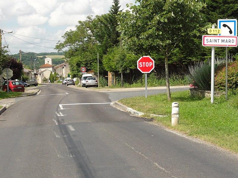 Saint-Mard (M-et-M) city limit sign