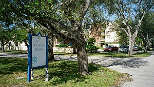 Catholic Health Services - St. Elizabeth Gardens at St. Elizabeth of Hungary School in Pompano Beach is one of three homes for the aged operated by Catholic Health Services.