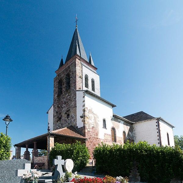 Church Saint Peter of Ursakoa (seen from the cimetary).