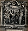 Saint Jerome, Saint Bernard of Clairvaux (?), Saint Dominic Wellcome V0033587.jpg