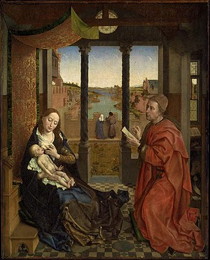 Saint Luke Drawing the Virgin - Image: Saint Luke Drawing the Virgin MFA Boston
