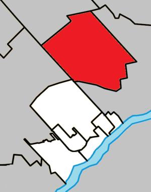 Sainte-Anne-des-Plaines, Quebec - Image: Sainte Anne des Plaines Quebec location diagram