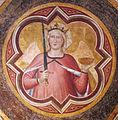 Sala capitolare di s. felicita, volta con virtù di di niccolò gerini, 1390 ca. giustizia.JPG