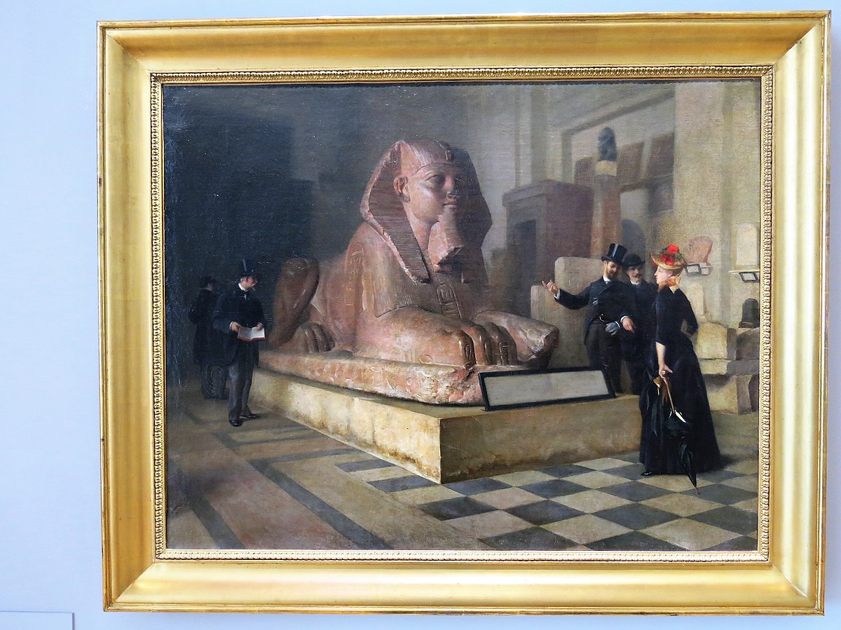 Egyptian room at the Louvre - Before the Great Sphinx