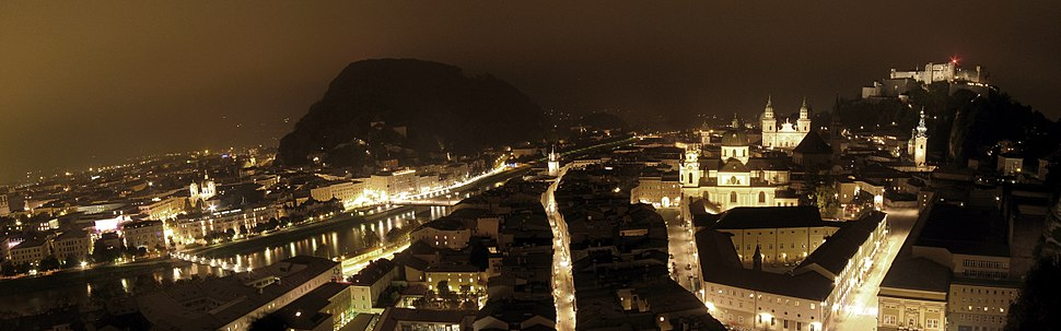 A night time long exposure of Salzburg
