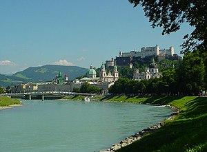 Salzach - Salzach in Salzburg, Austria