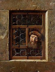 Alter Mann im Fenster