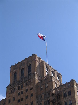 Downtown San Antonio - Texas Flag in San Antonio