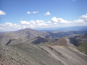 San Luis Peak - View from the top of the south ridge route