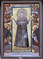 San marco, fi, mosaico di maria da antica s.pietro in vaticano, con angeli e santi Domenico e Raimondo in adorazione nello stile di fabrizio boschi.JPG