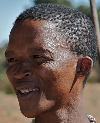 Black hair - Image: San tribesman new