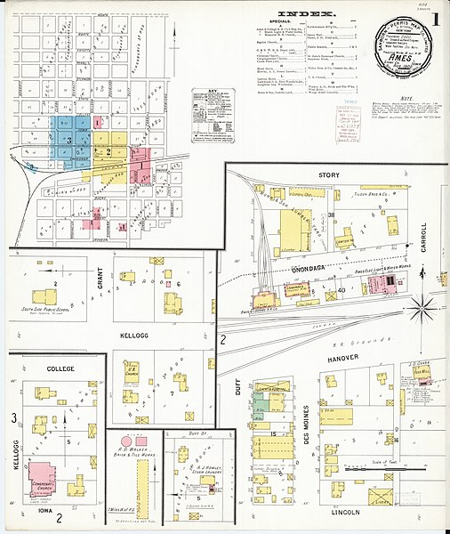 File:Sanborn Fire Insurance Map from Ames, Story County
