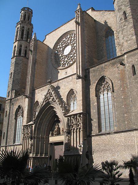 Fachada principal Santa María del Mar