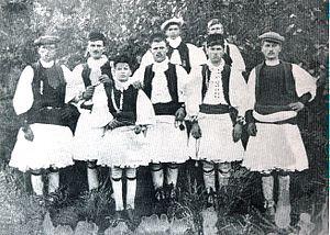 Sarakatsani - Sarakatsani men in West Macedonia, Greece (1935).