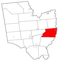 Ubicación dentro del condado de Saratoga