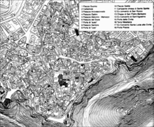 Mappa dei Sassi di Matera