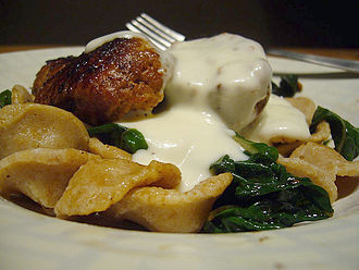 Mornay sauce - Mornay sauce over an orecchiette pasta dish