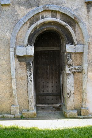 Earls Barton - Image: Saxon Door