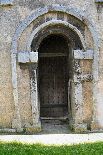 Earls Barton - Image: Saxon Door