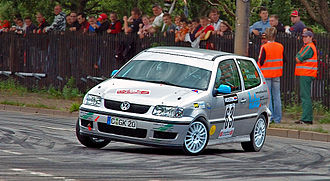Volkswagen Polo Mk3 - Volkswagen Polo GTI 16V at the German Saxony Rally