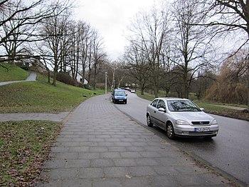 Blick vom Niemannsweg in Richtung Feldstraße
