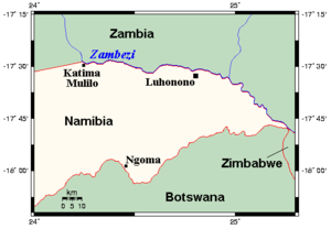 Location in Caprivi