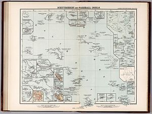 Marshall Islands - German protectorate (Schutzgebiet) of the Marshall Islands 1897
