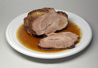 Maillard reaction - Roast pork, browned using the Maillard reaction