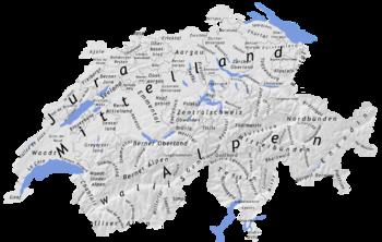 La Cartina Geografica Della Svizzera.Geografia Della Svizzera Wikipedia
