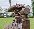 """Sculpture """"Sidney Pirate"""" by Jake James in Beacon Park, Sidney, British Columbia, Canada 02.jpg"""