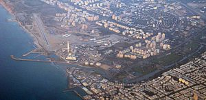 Sde Dov Airport - Sde Dov Airport and Reading Power Station