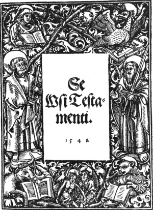 Mikael Agricola - Cover of Se Wsi Testamenti, or the New Testament