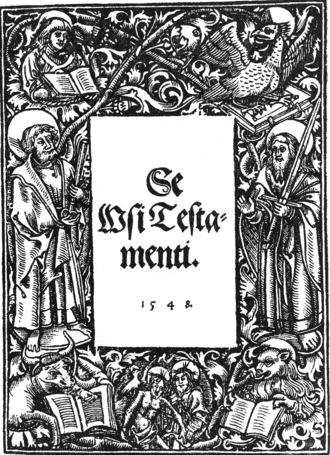 Mikael Agricola - Cover of Se Wsi Testamenti, or the New Testament