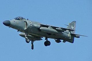 British Aerospace Sea Harrier fighter aircraft series by British Aerospace