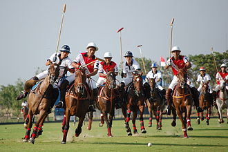 2007 Southeast Asian Games - Indonesia plays against Thailand in SEA Games Polo 2007