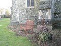 Seat in the churchyard at Holy Trinity, Winchester - geograph.org.uk - 1167563.jpg