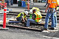 Seattle - laying trolley tracks on Broadway at Pine 25.jpg
