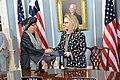 Secretary Clinton Shakes Hands With Liberian President Sirleaf (8386939542).jpg