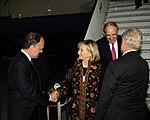 Secretary Clinton and Special Envoy Mitchell Are Welcomed to Israel By Israeli Ambassador Eldan and U.S. Ambassador Cunningham (4990625367).jpg