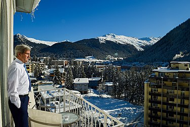 Secretary Kerry Admires View of Davos, Switzerland, Before Delivering Remarks at World Economic Forum (24537084945).jpg